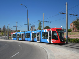трамвай, техника, трамваи, мадрид, испания, улица