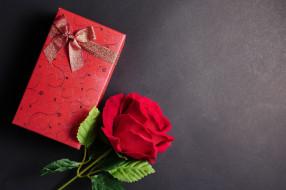 праздничные, подарки и коробочки, подарок, лента, бант, роза