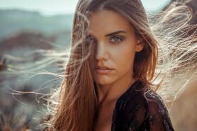 девушки, - лица,  портреты, девушка, модель, светловолосая, портрет, лицо, красотка, взгляд, причёска, макияж