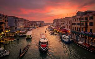 обои для рабочего стола 1920x1200 города, венеция , италия, канал, лодки, дома