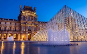 Louvre обои для рабочего стола 2560x1600 louvre, города, париж , франция, фонтан