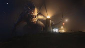 фэнтези, существа, маяк, монстр
