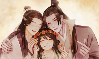 аниме, mo dao zu shi, персонажи, девочка, повязка, заклинатели