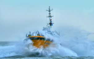 корабли, баркасы ,  буксиры, lucida, pilots, hdr, шторм, корабль, нидерланды, пилотные, суда