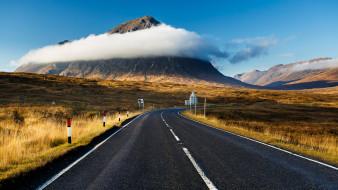 природа, дороги, шотландия