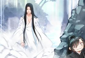 аниме, mo dao zu shi, водопад, купание