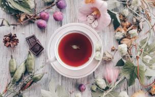 еда, напитки,  чай, композиция, чай, шоколад