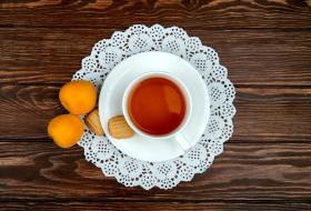 еда, напитки,  чай, печенье, чай, абрикосы