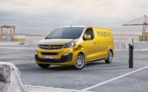 автомобили, opel, vivaro-e, 2020, электрический, автомобиль, фургон, экстерьер, желтый, vivaro, вид, спереди, минивэн