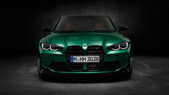 автомобили, bmw, зеленый, green, m3, competition, 2020, вид, спереди