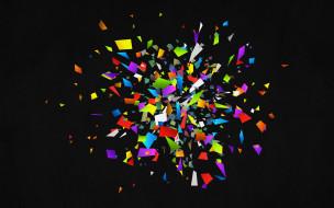 векторная графика, -графика , graphics, куски, осколки, цвета, взрыв