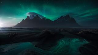 природа, горы, гора, вестрахорн, исландия