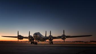 cтратегический бомбардировщик, дальнего действия, тяжелый, boeing, b29, superfortress