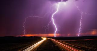 молния, раскаты, гром, непогода, гроза, дождь, ливень, облака, тучи, чёрные, проливной, вспышки, свет, стихия, ночь