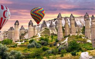 авиация, воздушные шары дирижабли, love, valley, cappadocia
