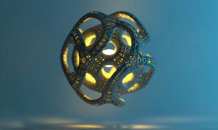 3д графика, абстракция , abstract, шар, плетение, объект