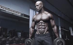 спорт, body building, мужчина, мышцы, бодибилдер, тренировки, тренажерный, зал, бицепс, гантели