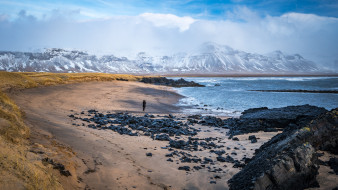 обои для рабочего стола 1920x1080 природа, побережье, исландия