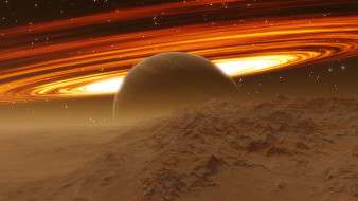 титан, космос, спутники сатурна, спутник, сатурн, планета, вселенная, галактика, поверхность, почва, грунт, атмосфера, пустыня