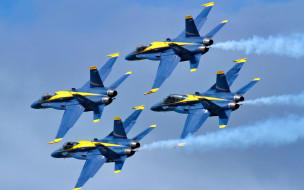 авиация, боевые самолёты, голубые, ангелы, авиационная, группа, высший, пилотаж, вмс, сша