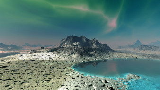 тритон, космос, спутники нептуна, спутник, нептун, планета, вселенная, поверхность, грунт, синева, горизонт, пространство, пустыня, атмосфера, лёд, обледенение