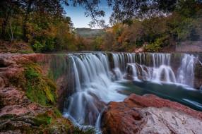 природа, водопады, france, река, вис