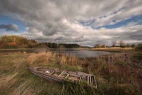 корабли, лодки,  шлюпки, озеро, лодка, трава