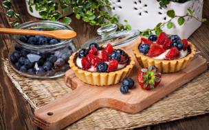 еда, пирожные,  кексы,  печенье, черника, кексы, ягодные