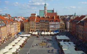marketplace, города, варшава , польша