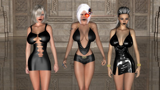 3д графика, фантазия , fantasy, девушки, фон, платье