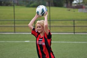 футбол, спорт, мяч, девушка
