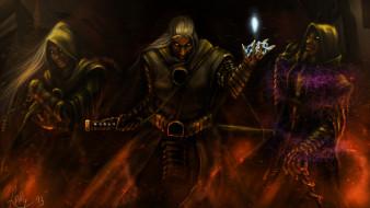 фэнтези, маги,  волшебники, воины