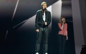 эстония,  отт лепленд, музыка, -евровидение, певец, микрофон, сцена, подпевка