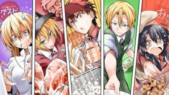 аниме, shokugeki no soma, кухня, сомы