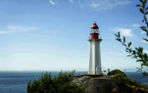 sheringham point lighthouse, canada, природа, маяки, sheringham, point, lighthouse