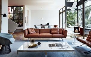 обои для рабочего стола 1920x1200 интерьер, гостиная, кожаная, мебель