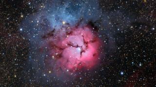 космос, галактики, туманности, тройная, туманность, m20