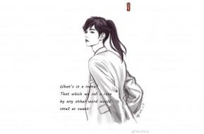 рисованное, люди, сун, цзиян, китайский, актёр, певец