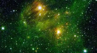 Небо, звёзды, космос, квазары, свечение, галактика, вселенная, пространство, планеты, отражение, блеск