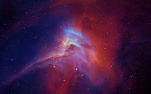 Небо, звёзды, космос, туманность, свечение, галактика, вселенная, пространство, бесконечность