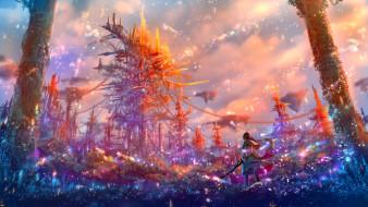 аниме, магия,  колдовство,  halloween, фэнтези, девушка