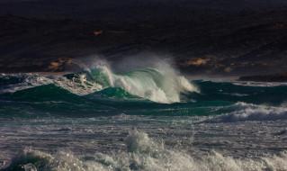 природа, моря, океаны, волны, шторм, буря, брызги, вода, океан, море, небо, непогода, ветер