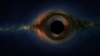 Чёрная дыра, небо, звёзды, космос, туманность, свечение, галактика, вселенная, пространство, бесконечность