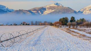 природа, зима, снег, сугробы, горы
