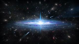 квазары, небо, звёзды, космос, туманность, свечение, галактика, вселенная, пространство, бесконечность