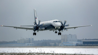 турбовинтовой, ближнемагистральный, пассажирский самолет, 16 декабря 2020 года, аэродром в жуковском