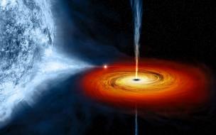Чёрная дыра, квазары, небо, звёзды, космос, туманность, свечение, галактика, вселенная, пространство, бесконечность