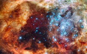 Небо, звёзды, космос, туманность, свечение, галактика, вселенная, пространство