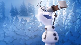 жил был снеговик, сша, мультфильм, олаф, снеговик