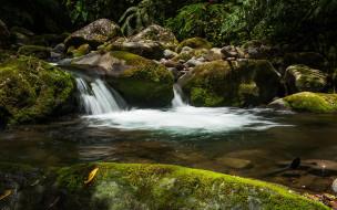 природа, водопады, вода, водопад, поток